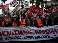 İspanya'da 'AB-Türkiye anlaşmasına hayır' protestoları