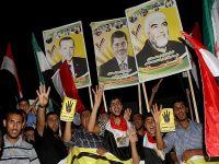Gazze'deki Filistinliler Erdoğan posterleriyle yürüdü