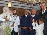 Bakanlar Arınç ve Yıldırım nikah şahitliği yaptı