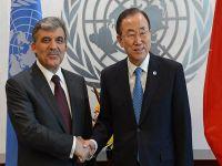 Cumhurbaşkanı Gül BM Genel Sekreteri Ban ile görüştü