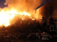 Hatay'da fabrika sahasında yangın