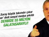 Derbide 55 milyon taraftar Galatasaraylı!
