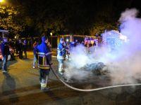Brüksel'de itfaiyeciler köpüklü eylem yaptı