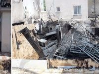 Yangın koca bir apartmanı yakıyordu
