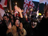 Gürcistan'da televizyon kanalı protesto için ekranını kararttı