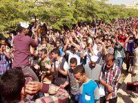 Ezher Üniversitesi'nde darbe karşıtı gösteriler sürüyor