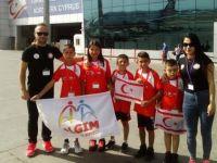 Özel cimnastikciler İzmir'e umutlu gitti