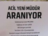 Galatasaray Liseliler de 'iş ilanı' verdi! Padişaha...