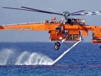 Yangın söndürme helikopteri beklemede...