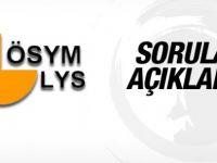 ÖSYM LYS 1 ve LYS 4 soruları açıklandı