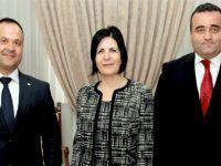 Siber, Sivil Savunma'nın eski ve yeni başkanlarını kabul etti