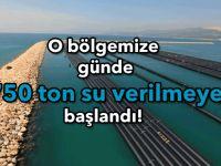 O bölgemize kesintisiz günde 750 ton su verilmeye başlandı!