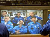 Üç uzay yolcusu ISS'e ulaştı