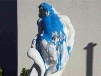 'Özgür Olmak' heykeli ikinci defa saldırıya uğradı