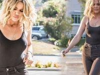 Khloe Kardashian'ın sütyensiz stili
