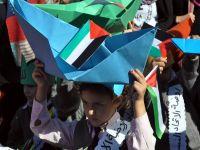 Gazzeli çocukların abluka eylemi