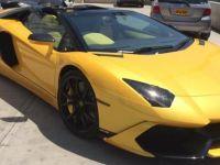 Lamborghini marka araç ortalığı karıştırdı..