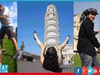 """Yaratıcı """"Pisa Kulesi"""" pozları!"""