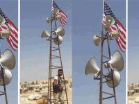 PYD'nin yeni korunma yöntemi: ABD bayrağı asıyorlar!