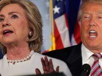 Clinton ve Trump çocuk gibi tartıştılar!