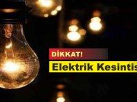 Bu bölgelere 3 saat elektrik enerjisi verilemeyecek