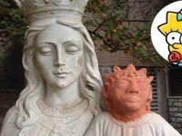 Kanada'da restore edilen İsa heykeli 'Maggie Simpson'a benzetildi