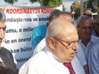 Emekli Dernekleri Koordinasyon Konseyi meclis önünde eylem yaptı