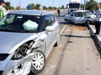 İnönü Kavşağında korkutan kaza