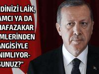 Bu soruyu Erdoğan'a sordular!