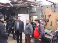Sadıkoğlu, yağmurdan olumsuz etkilenen köyleri ziyaret etti