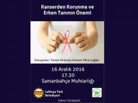 Kansere karşı bilinçlendirme seminerlerinin ikincisi Samanbahçe'de