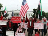 Beyaz Saray önünde Halep protestosu