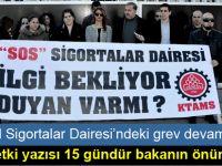 """""""Talebimiz olan üç personel gelmediği takdirde yarın greve devam edeceğiz"""""""