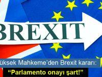 Brexit için 'Parlamento onayı' şartı