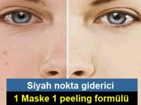 Siyah noktalara karşı etkili 1 maske 1 peeling