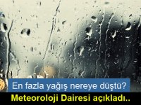 Meteoroloji Dairesi son 24 saatte KKTC genelinde metrekareye düşen yağmur miktarlarını açıkladı