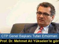 Erhürman LAÜ Rektörü Yükselen'le görüştü