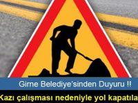 Girne Belediyesi'nden Duyuru