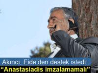 Cumhurbaşkanı Akıncı, Eide ile telefonda görüştü