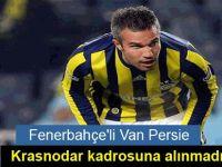 Van Persie, Krasnodar kadrosuna alınmadı