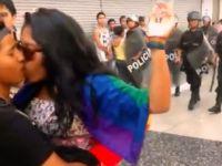 Yüzlerce LGBTİ eşit haklar için öpüştü