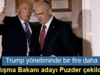 Trump yönetiminde bir fire daha: Çalışma Bakanı adayı Puzder çekildi