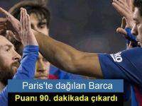 Paris'te dağılan Barca, puanı 90. dakikada çıkardı