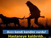 Sadrazamköy'de kendi kendini vuran avcı, hastaneye kaldırıldı...