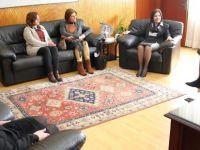Siber, İskele Kadınlar Derneği heyetini kabul etti