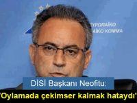 """DİSİ Başkanı Neofitu: """"Oylamada çekimser kalmak hataydı"""""""