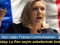Aşırı sağcı Fransa Cumhurbaşkanı adayı Le Pen seçim anketlerinde önde