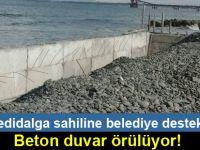 Yedidalga sahiline beton duvar !...