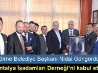 Güngördü, Antalya İşadamları Derneği Yönetim Kurulu Başkanı Ve Üyelerini kabul etti