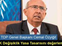 TDP Genel Başkanı Cemal Özyiğit YÖDAK Değişiklik Yasa Tasarısını değerlendirdi